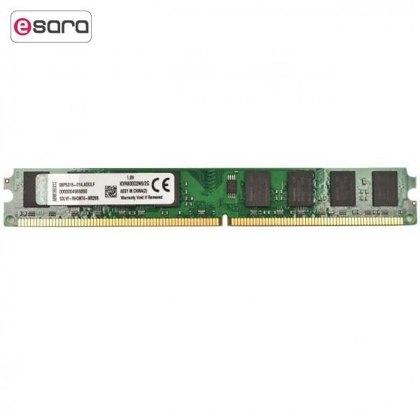 رم دسکتاپ DDR2 تک کاناله 800 مگاهرتز کینگستون ظرفیت 2 گیگابایت   Kingston DDR2 800MHz Single Channel Desktop RAM 2GB