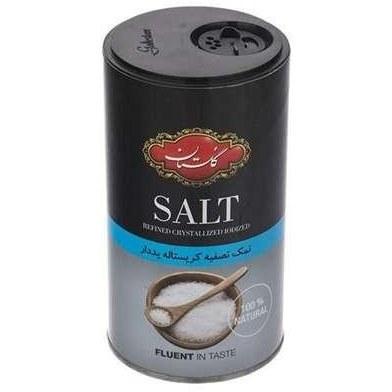 تصویر نمک تصفیه کریستاله ید دار 500گرمی گلستان پینکت
