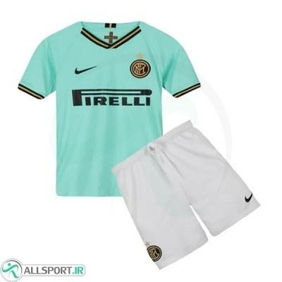 پیراهن شورت بچگانه دوم اینترمیلان Inter Milan 2019-20 Away Soccer Jersey Kids Shirt+Short