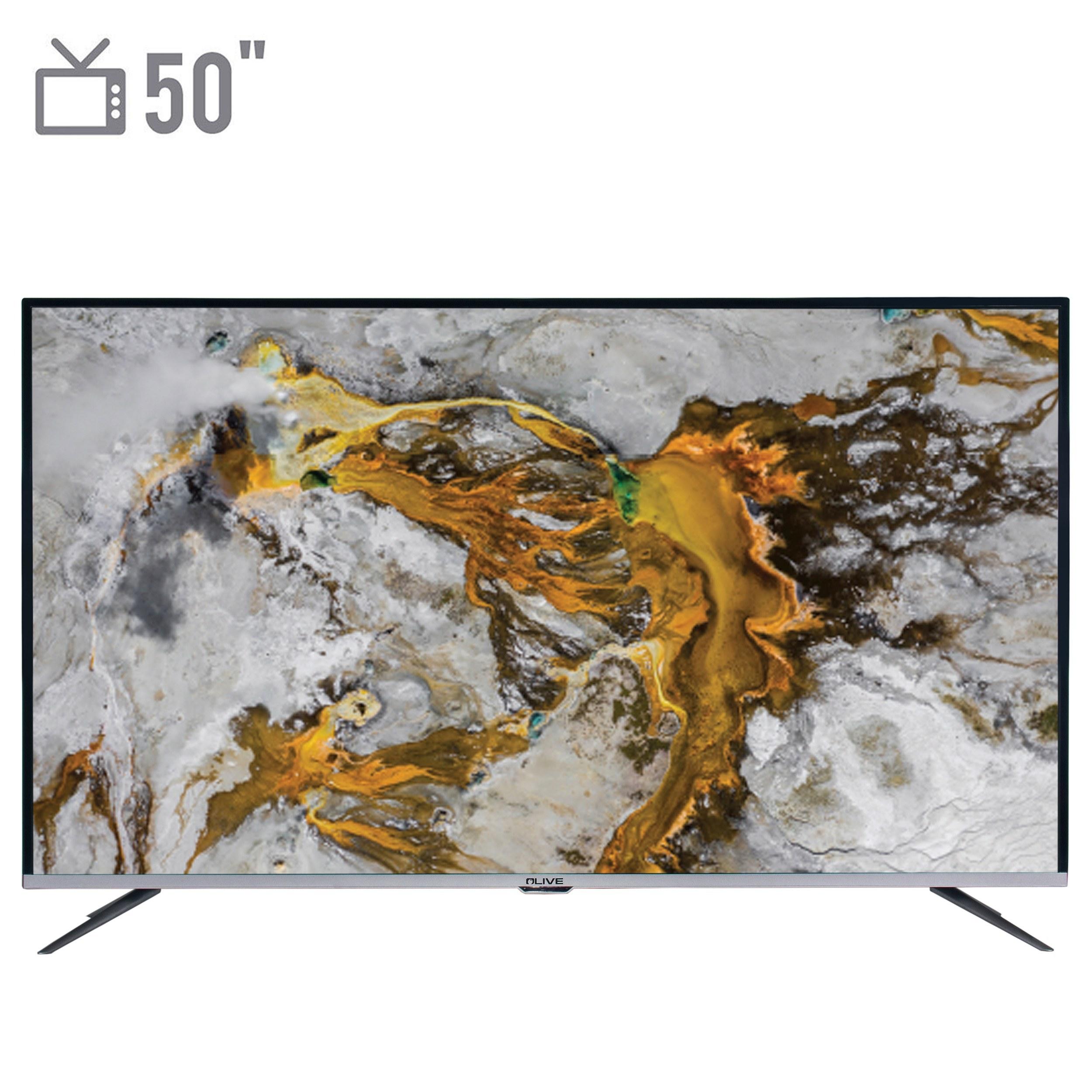 تصویر تلویزیون ال ای دی هوشمند الیو مدل 50UA8430 سایز 50 اینچ Olive 50UA8430 Smart LED TV 50 Inch