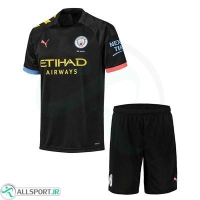 پیراهن شورت دوم منچسترسیتی Manchester City 2019-20 Away Soccer Jersey Kit Shirt+Short