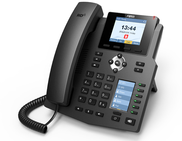 تصویر تلفن تحت شبکه باسیم فنویل مدل X4 Fanvil X4 4-Line Corded IP Phone