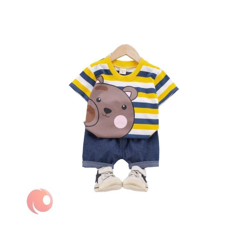 تصویر لباس ست نوزادی طرح خرس