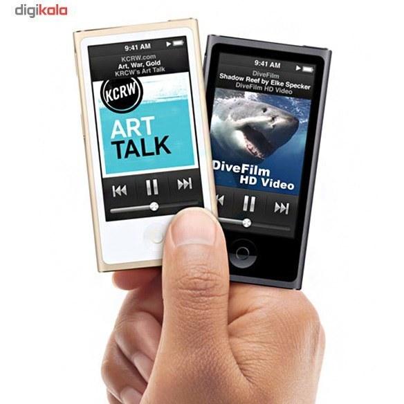 تصویر پخش کننده موسیقی قابل حمل اپل مدل iPod Nano نسل هفتم - ظرفیت 16 گیگابایت Apple iPod Nano 7th Generation Portable Music Player - 16GB
