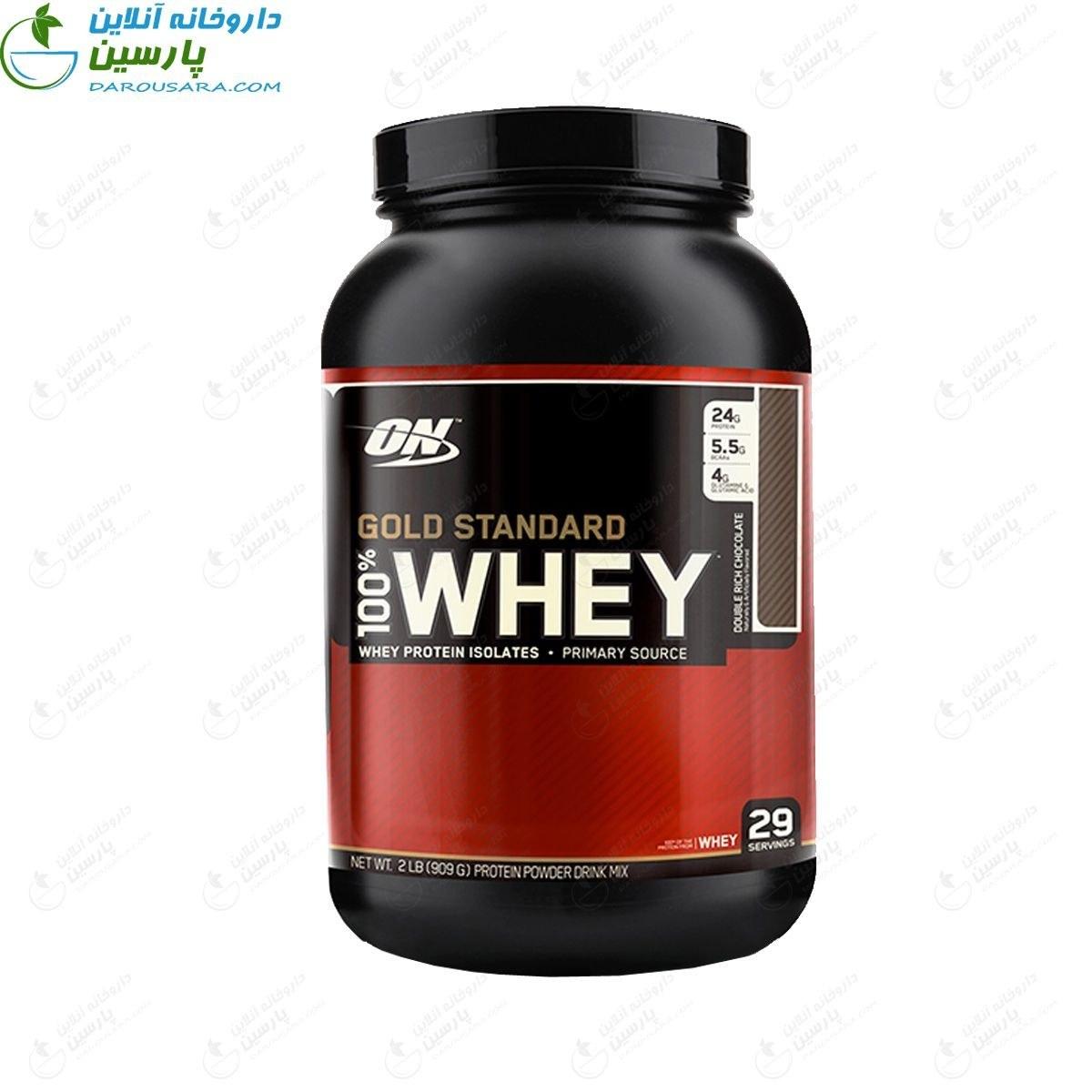پودر پروتئین اپتیمم نوتریشن 100 درصد وی گلد استاندارد 2 پوند  