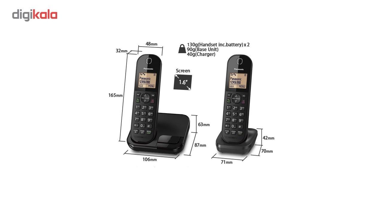 تصویر تلفن بی سیم پاناسونیک مدل KX-TGC412 ا Panasonic KX-TGC412 Wireless Phone Panasonic KX-TGC412 Wireless Phone