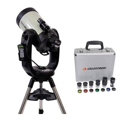 "Celestron CPC Deluxe 1100 HD Computerized Telescope - with Deluxe Accessory Kit (5 Plossl Eyepieces, 1.25"" Barlow Lens, 1.25"" Filter Set, Accessory Carry Case)"