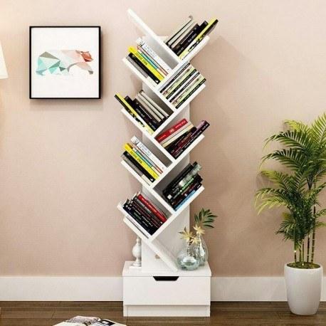 تصویر کتابخانه دکوری آبشار کشو دار