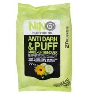 تصویر دستمال مرطوب پاک کننده آرایش نينو مدل Anti Dark & Puff بسته 27 عددی3