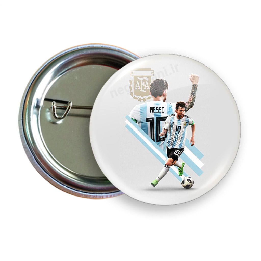 تصویر پیکسل لیونل مسی مدل  B 118 Pixel (Pinback Button Badge) Messi code B 118