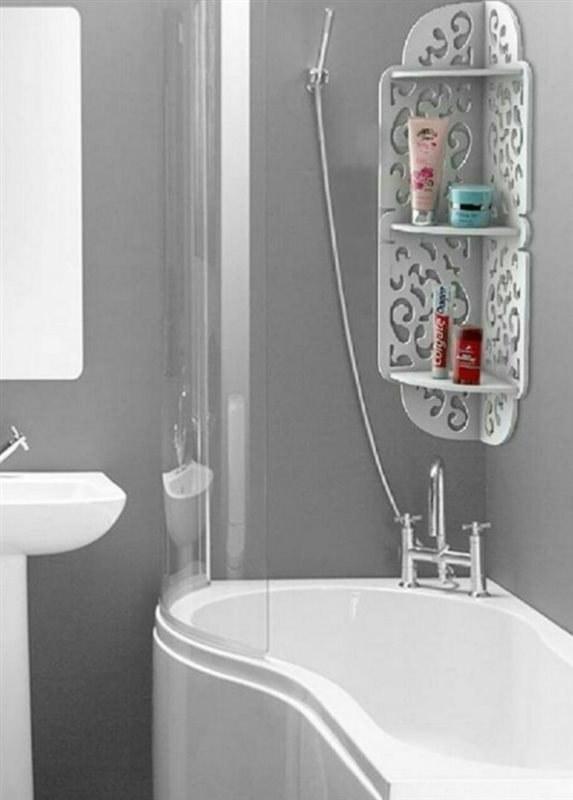 شلف کنج حمام ۷۰ سانت | جنس PVC درجه1