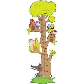 استیکر اندازه گیری قد طرح درخت حیوانات کد EPNB-105 |