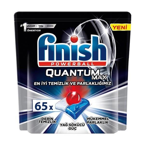 تصویر قرص ماشین ظرفشویی فینیش مدل کوانتوم مکس 65 عددی Finish dishwasher tablet, Quantum Max model, 65 pieces