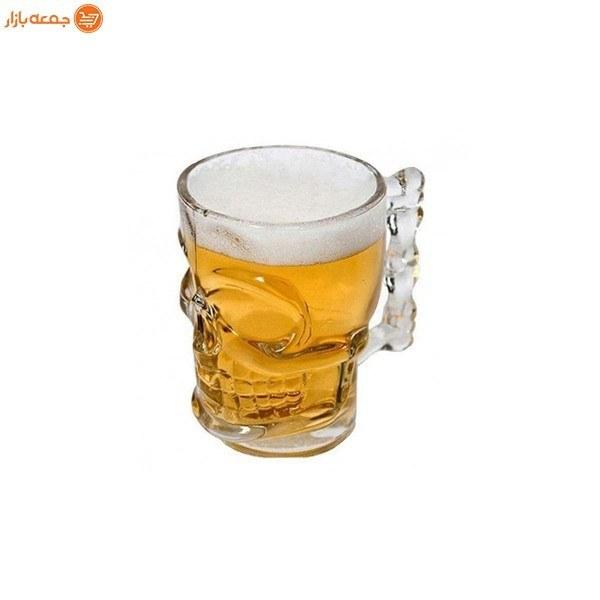 تصویر لیوان طرح اسکلت دسته دار