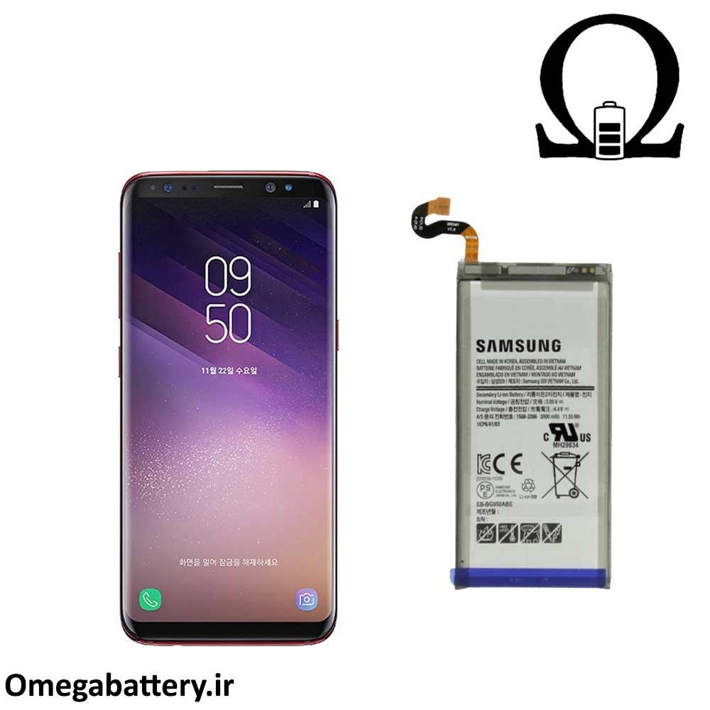 تصویر باتری اصلی سامسونگ Samsung Galaxy S8 Plus با آموزش تعویض