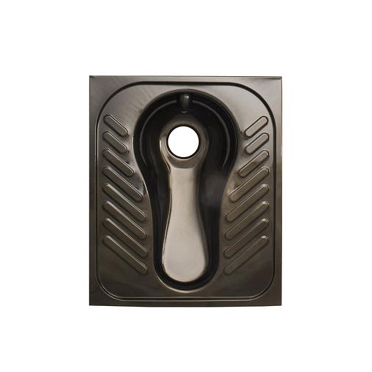 تصویر کاسه توالت آنتی باکتریال گلچین 50*60 مشکی