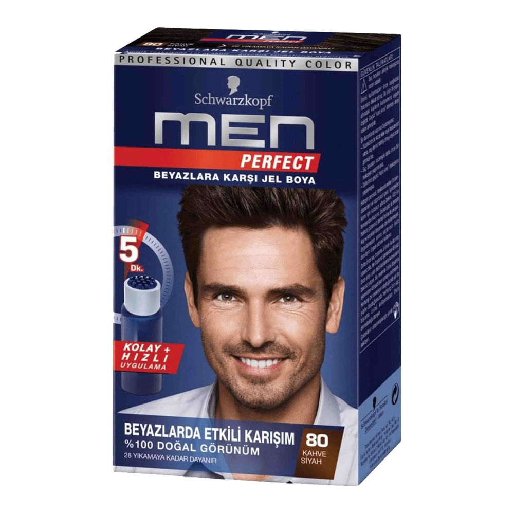 تصویر کیت رنگ موی مردانه من پرفکت Men Perfect شماره 80