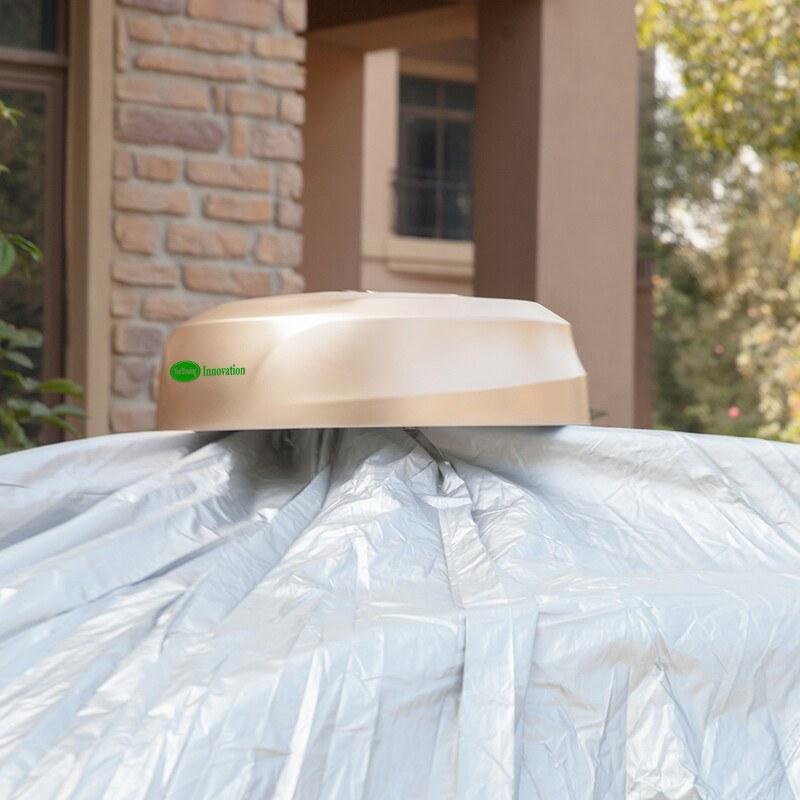 تصویر چادر ماشین ضد آب اتومبیل با قابلیت کنترل از راه دور و باتری خورشیدی کد 150