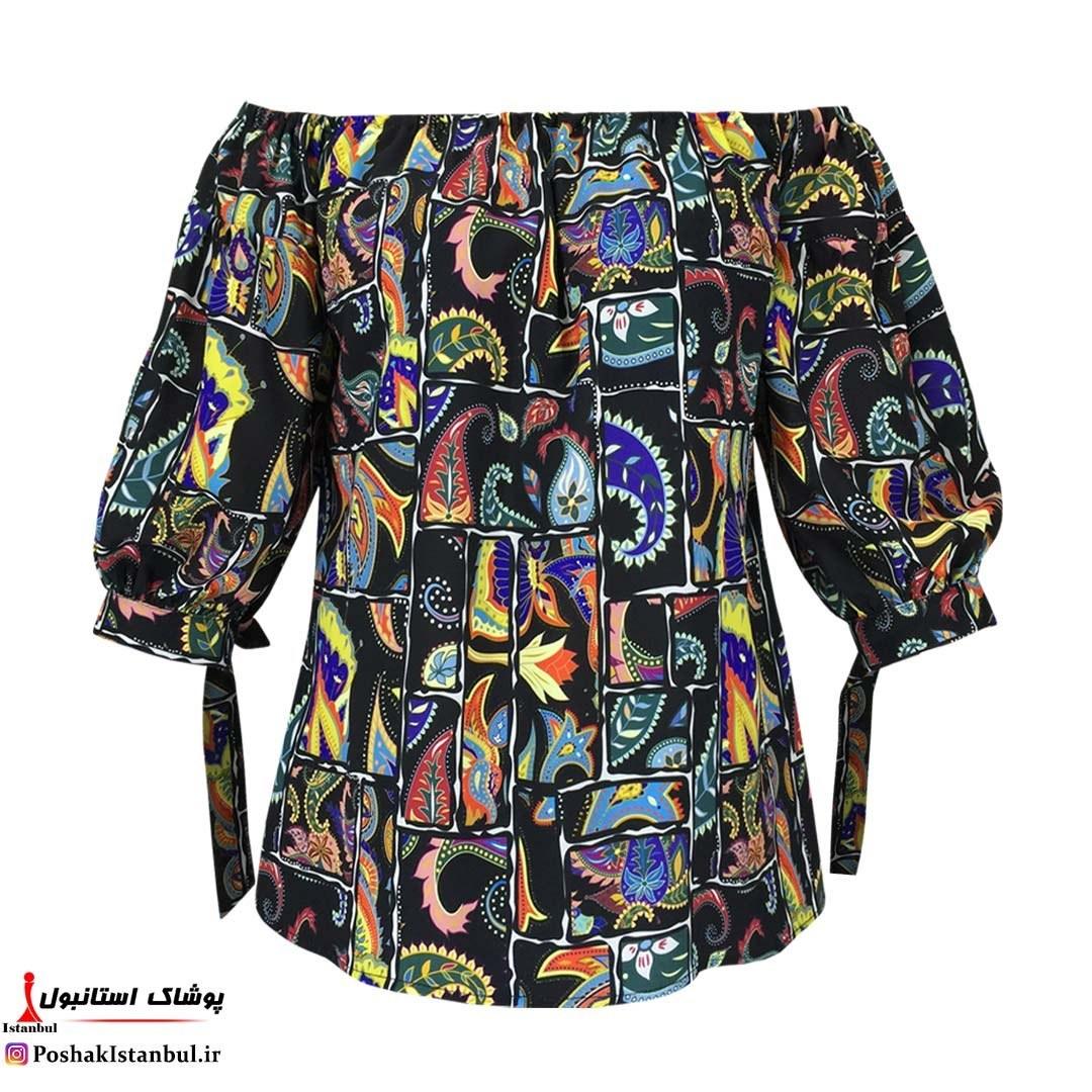 تصویر بلوز زنانه توتو بوته جقه کد2165 دارای رنگبندی