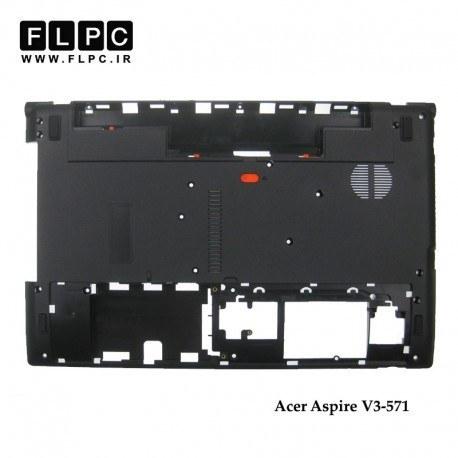 تصویر قاب کف لپ تاپ ایسر V3-571 مشکی Acer Aspire V3-571 Laptop Bottom Case - Cover D