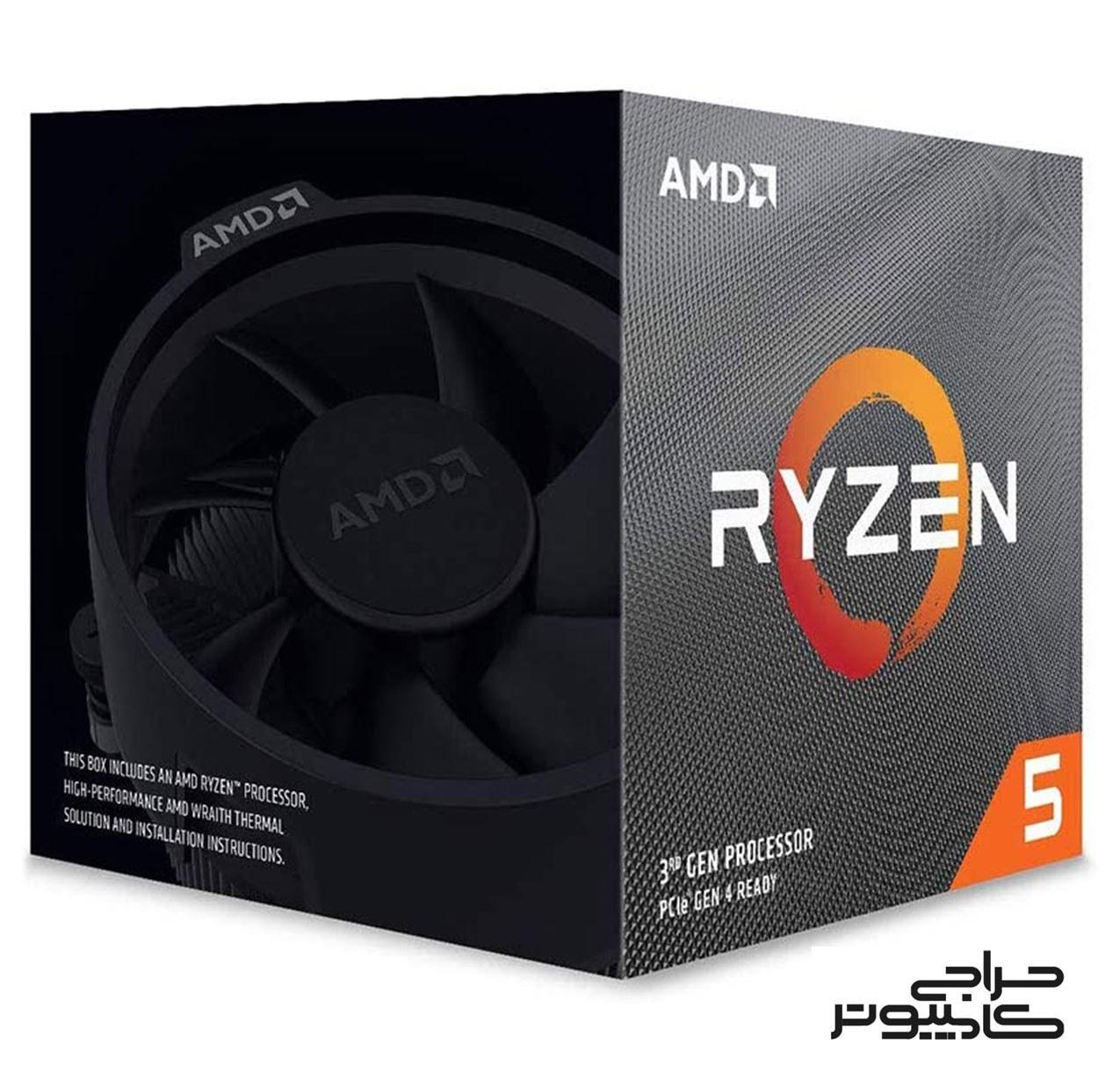 تصویر پردازنده ای ام دی Ryzen 5 5600X باندل با مادربردهای ایسوس AMD Ryzen 5 5600X AM4 Processor