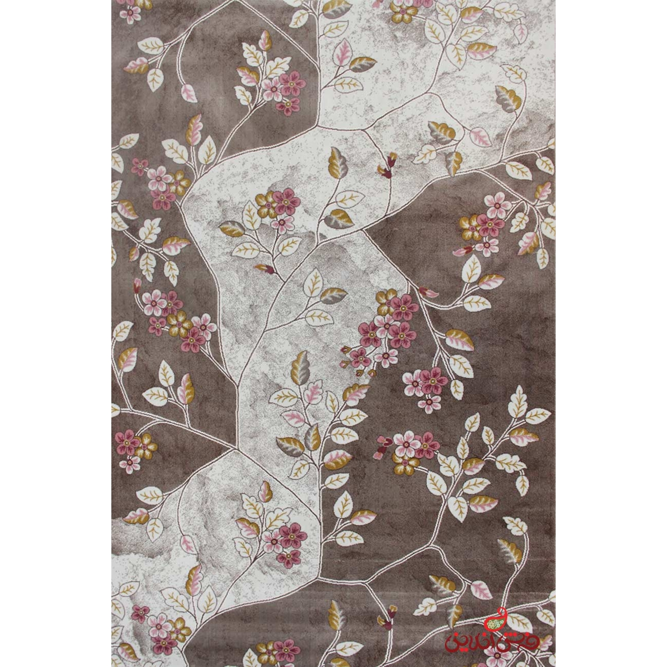 تصویر فرش ماشینی ساوین کد 1512 صورتی