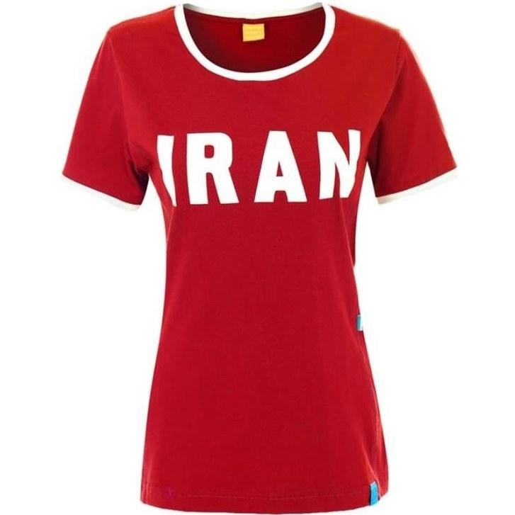 تیشرت زنانه هواداری ایران - رنگ قرمز