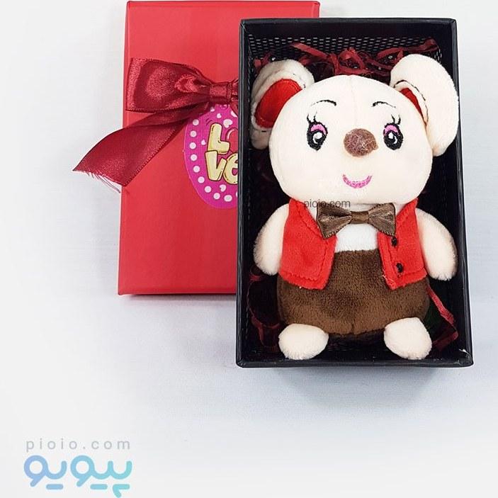 تصویر کادو روز ولنتاین با عروسک موش