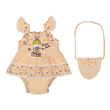ست سه تکه لباس نوزاد دخترانه کد ۱۰۸۴  