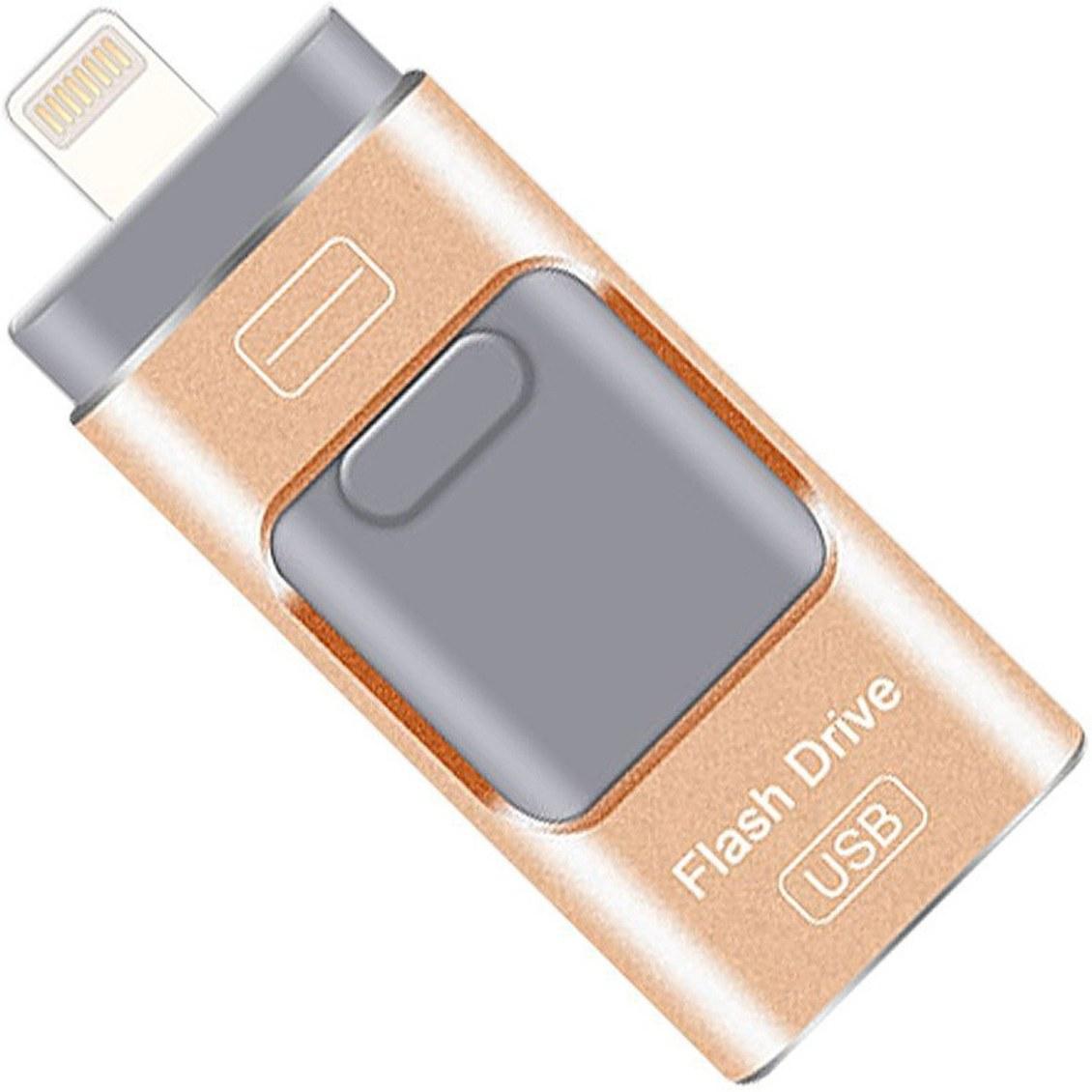 تصویر فلش مموری فلش درایو Flash Drive 256GB Dual Storage For iOS , Android and PC