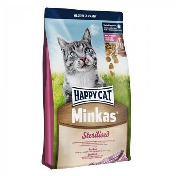 غذای خشک گربه هپی کت Happy cat مینکاس مخصوص گربه های بالغ عقیم شده- ۱٫۵ کیلوگرمی