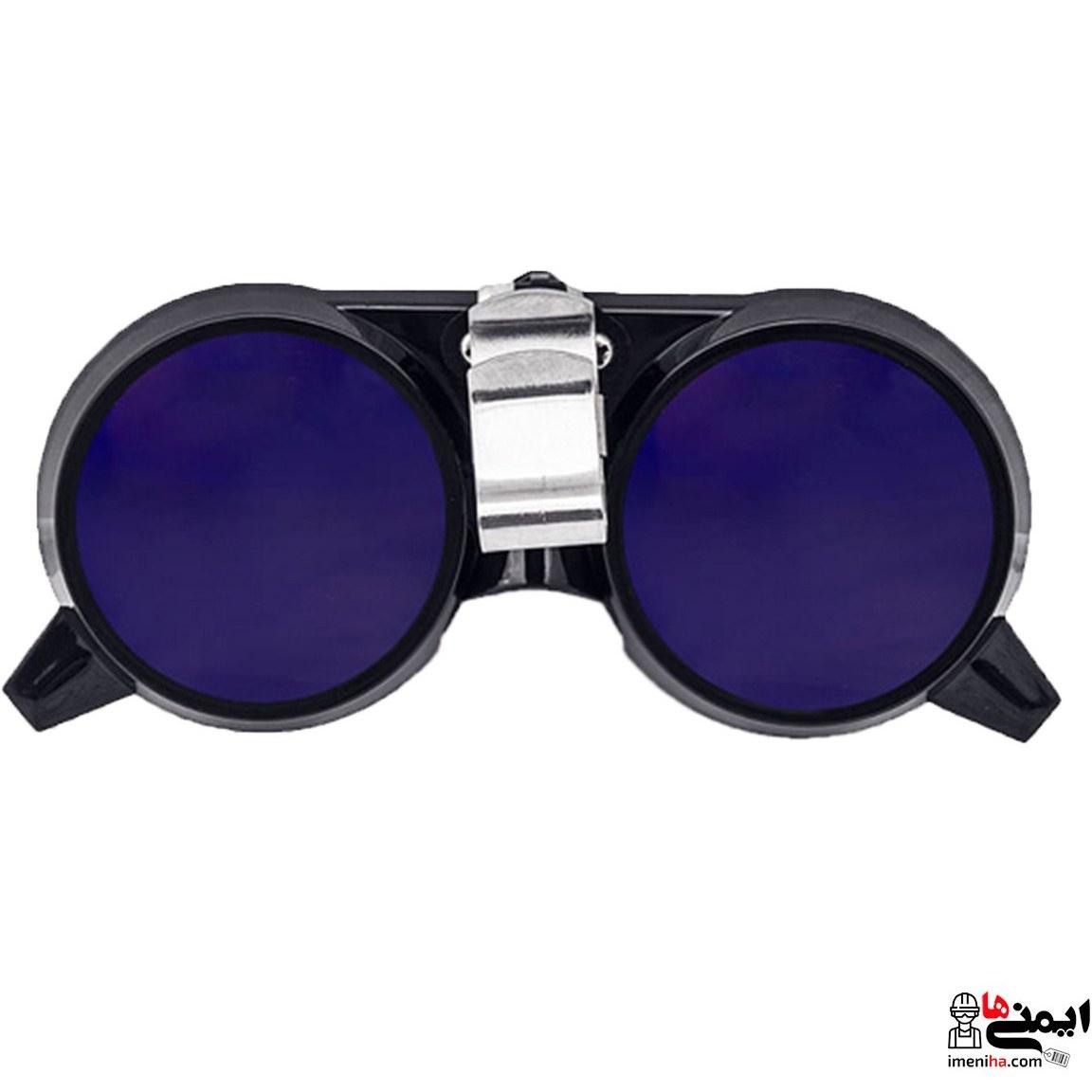 تصویر محافظ چشم جوشکاری PAN SE1161 شیشه کبالت