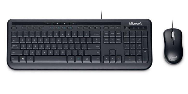 تصویر کیبورد و ماوس مایکروسافت مدل دسکتاپ 600 کیبورد و ماوس مایکروسافت Desktop 600 Wired Keyboard and Mouse