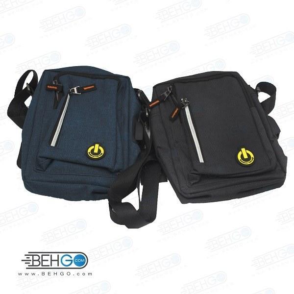 تصویر کیف موبایل ، لوازم و کیف پاور بانک مدل گائولما W-02 کیف گردنی ،دوشی و کمری با خروجی کابل Gaolema W-02 Mobile Accessories Bag with usb cable output