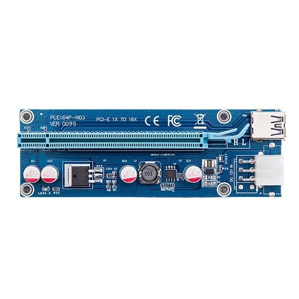 رایزر کارت گرافیک MIT PCIE 1x to 16x Ver009S Riser Card USB 3.0