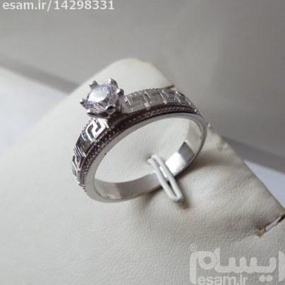 انگشتر حلقه زنانه نقره سولیتر بسیار ظریف و زیبا | انگشتر زنانه نقره سولیتر مجلسی تایلندی4.37g