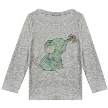 تیشرت آستین بلند دخترانه طرح موش و فیل کد F79