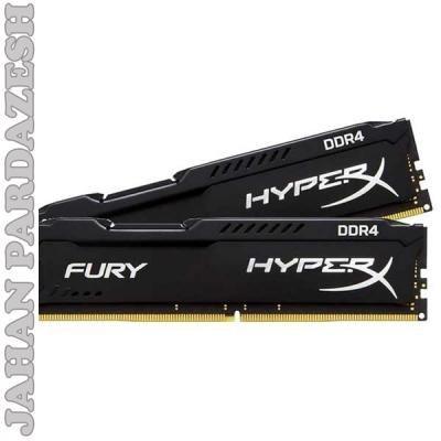 رم کامپيوتر کينگستون مدل HyperX Fury DDR4 2400MHz CL15 ظرفيت 8 گيگابايت