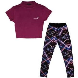 ست تی شرت و شلوار ورزشی زنانه کد 1-360062 |