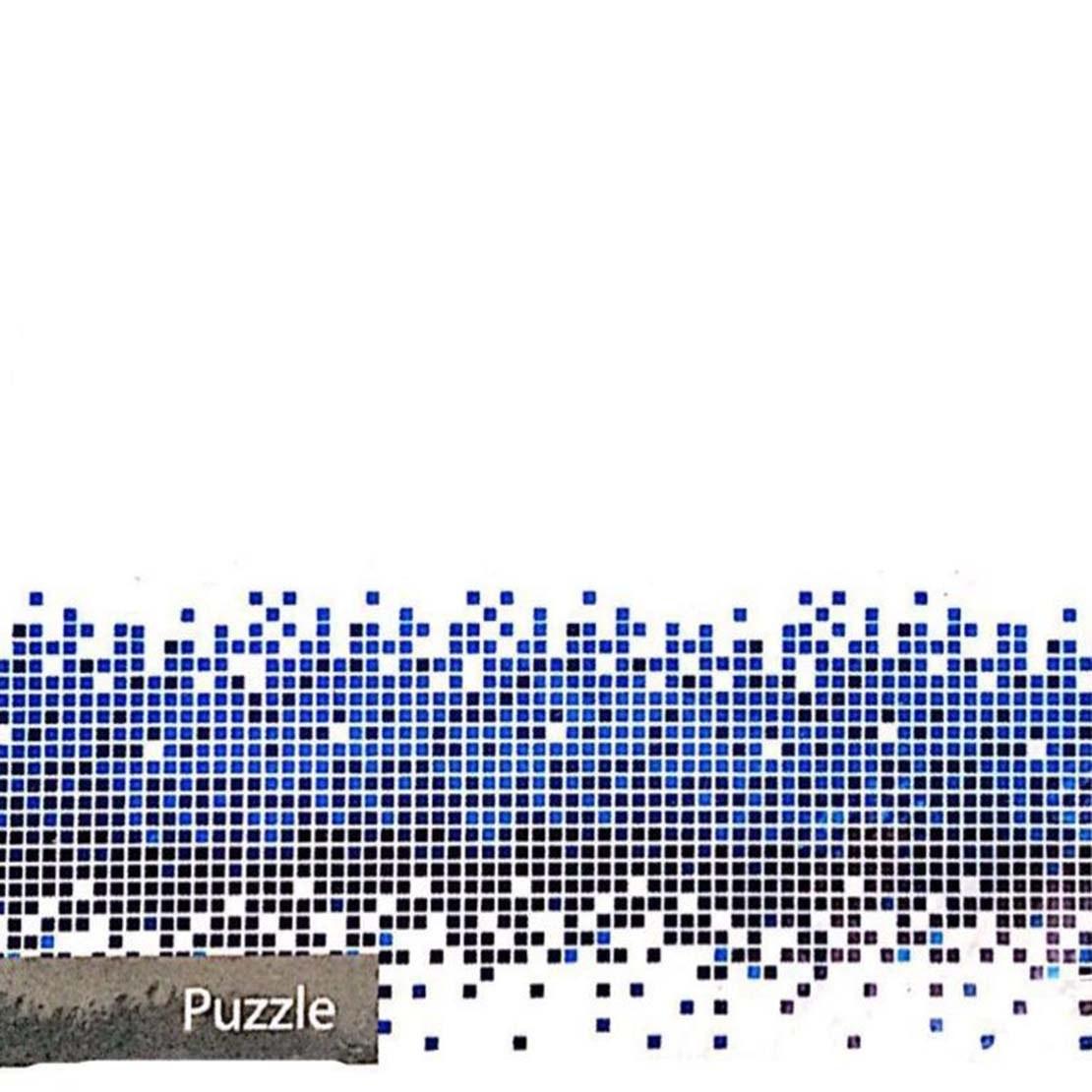 تصویر پرده حمام 180*190 رزین تاژ طرح پازل Puzzle