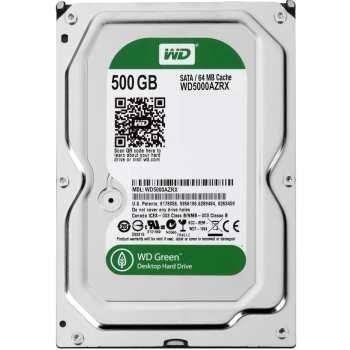 هارددیسک اینترنال وسترن دیجیتال سری سبز مدل WD5000AZRX ظرفیت 500 گیگابایت   Western Digital Green WD5000AZRX Internal Hard Drive - 500GB