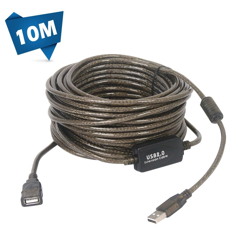 تصویر کابل افزایش طول USB تقویت 10 متری (بافر دار)