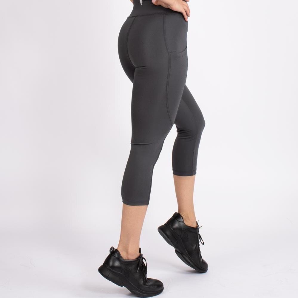 تصویر لگ اسلیم افکت جیبدار دودی قد 75 – Agi Slim Effect Leggings Fume