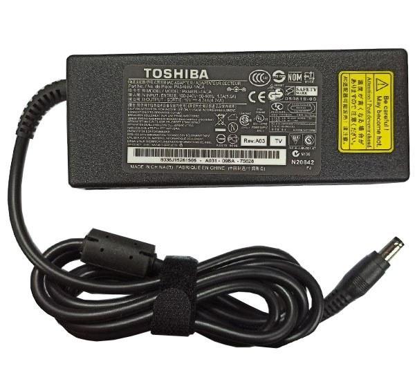 تصویر شارژر لپ تاپ توشیبا 19 ولت 4.74 آمپر Toshiba 19V 4.74A Charger