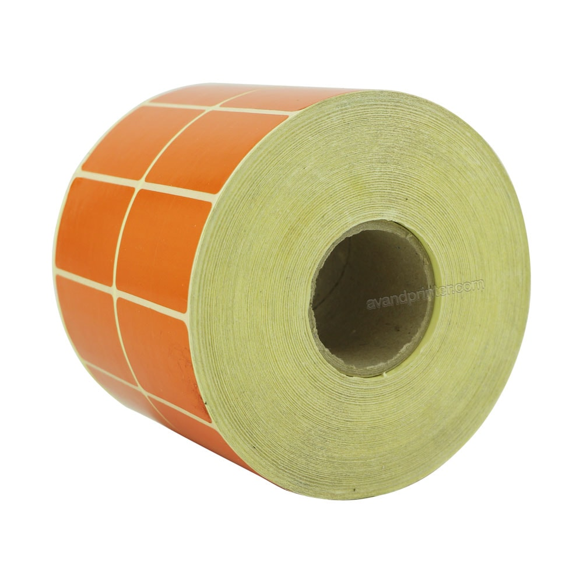 main images لیبل (برچسب) پی وی سی دو ردیفه نارنجی PVC Label 30×45