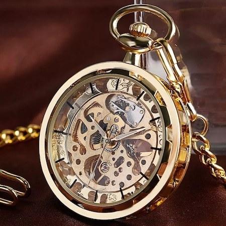 ساعت جیبی زنجیره ای برند winner |