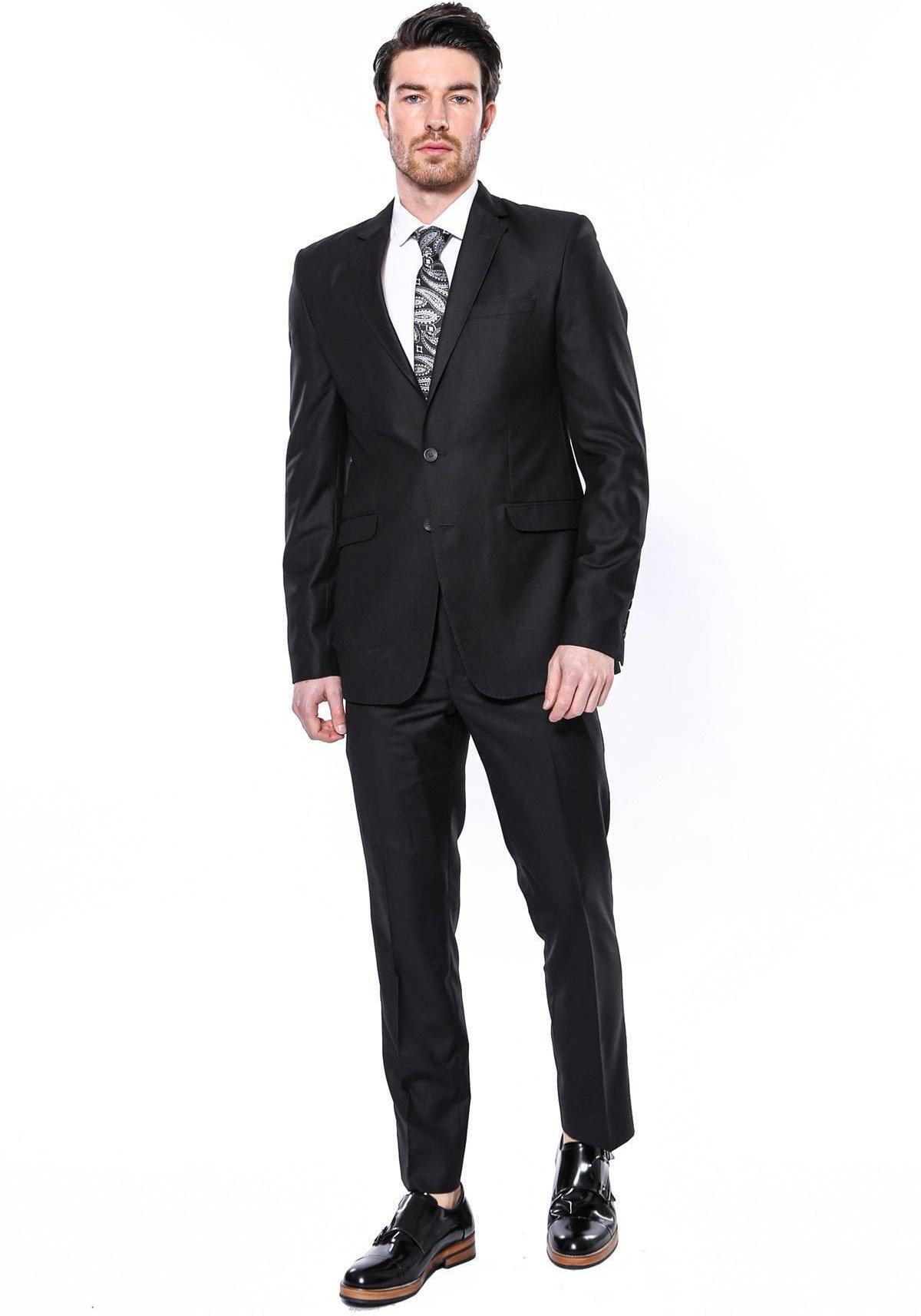 تصویر کت شلوار مردانه ارزان برند ویسی رنگ مشکی کد ty85894795