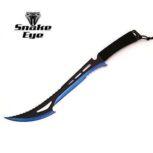 چاقوی آبی-مشکی زامبی کش مخصوص کمپینگ و اردو محصول Snake Eye Tactical. |