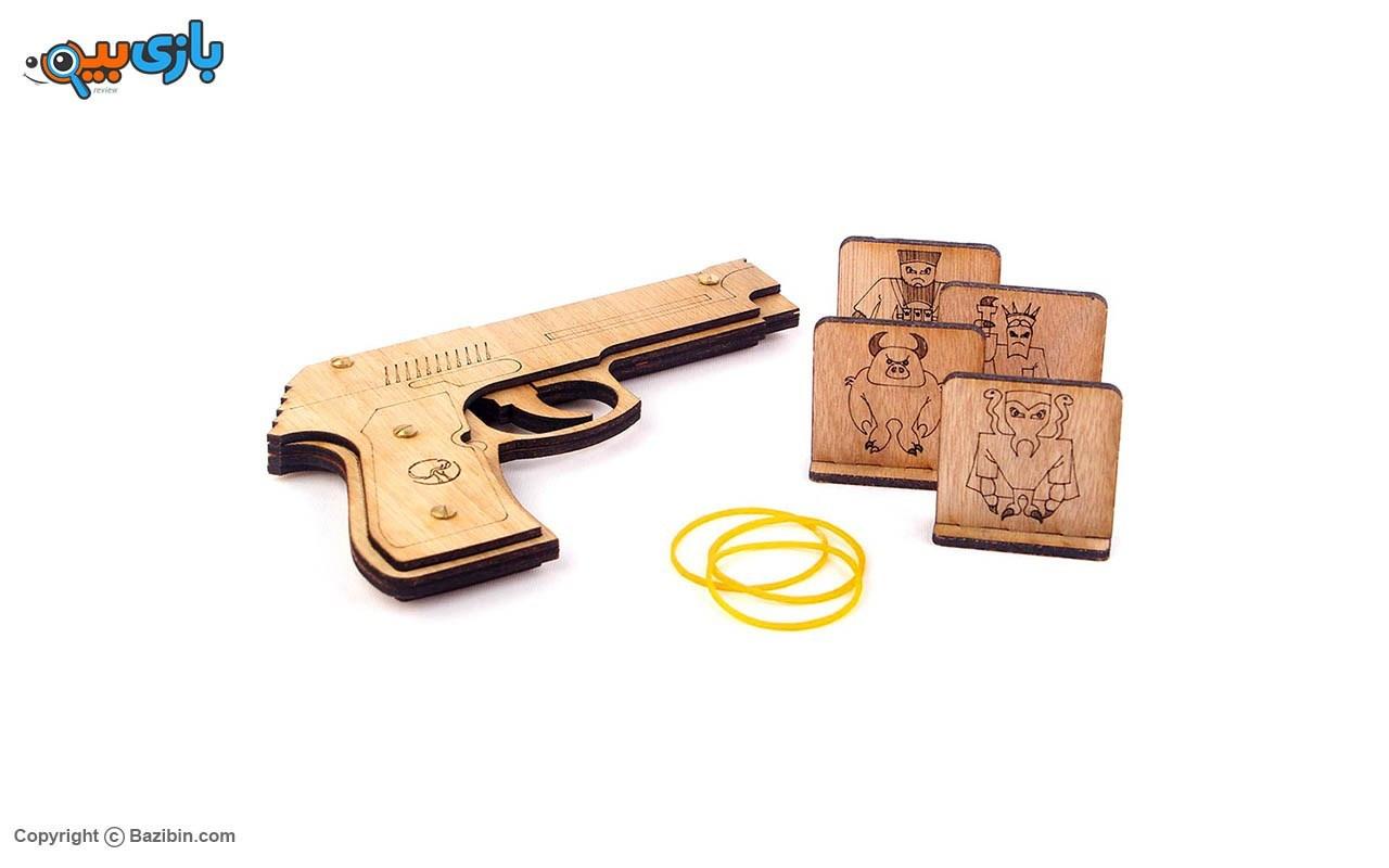 تصویر اسباب بازی تفنگ چوبی چوبین