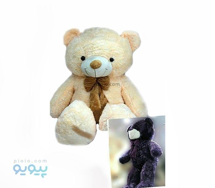 عروسک خرس بزرگ پاپیون دار |